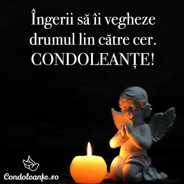 mesaje condoleante ingerii vegheaza drum lin