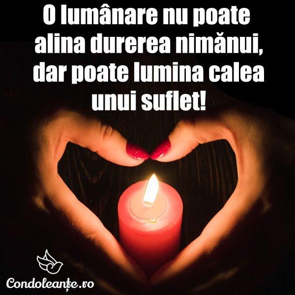 mesaje condoleante lumanare aprinsa lumineaza calea suflet