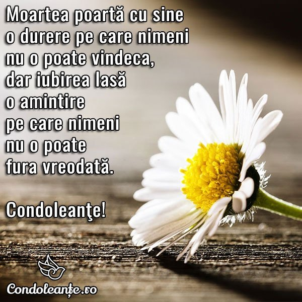 mesaje condoleante moarte iubire amintire