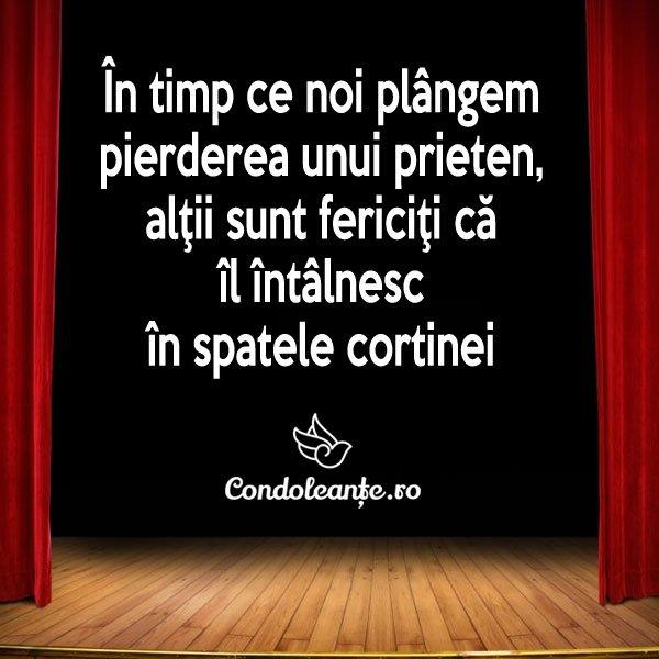 mesaje condoleante prieten fericire spatele cortinei