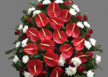 coroana anthrium crizanteme trandafiri